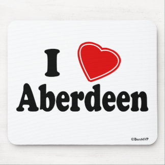 I Love Aberdeen Mouse Pad