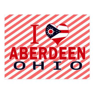 I love Aberdeen, Ohio Postcard