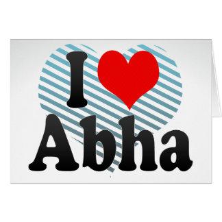 I Love Abha, Saudi Arabia Card