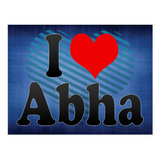 I Love Abha, Saudi Arabia Postcard
