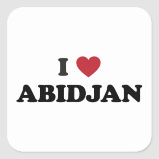 I Love Abidjan Ivory Coast Square Stickers