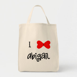 I love Abigail Grocery Tote Bag