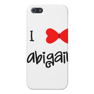I love Abigail iPhone 5 Cases