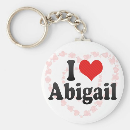 I Love Abigail Keychain