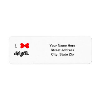 I love Abigail Label