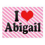 I Love Abigail Postcards