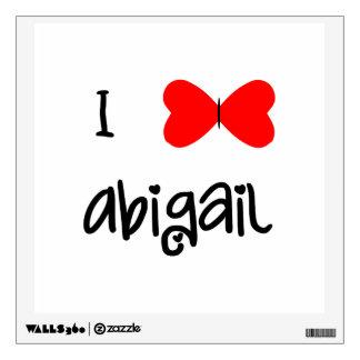 I love Abigail Wall Sticker