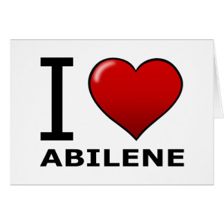 I LOVE ABILENE,TX - TEXAS CARD