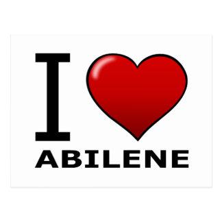 I LOVE ABILENE,TX - TEXAS POSTCARD