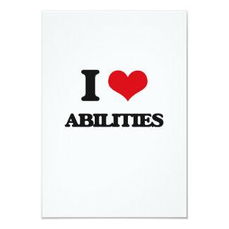 I Love Abilities 3.5x5 Paper Invitation Card