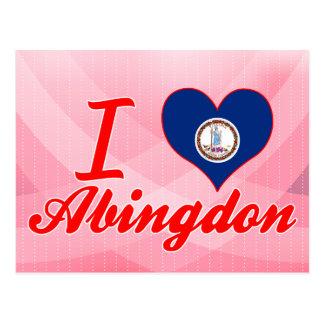 I Love Abingdon, Virginia Postcard