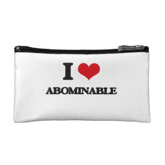 I Love Abominable Makeup Bag