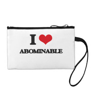 I Love Abominable Coin Purses