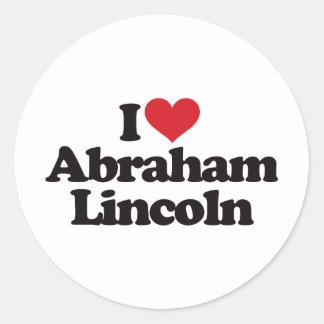 I Love Abraham Lincoln Classic Round Sticker