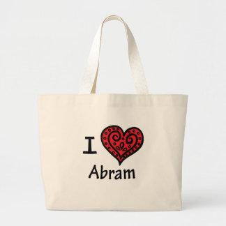 I Love Abram Large Tote Bag