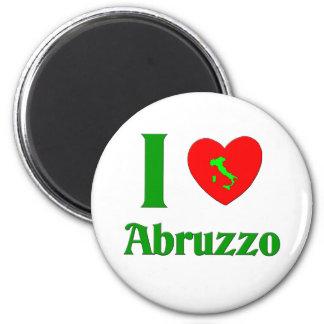 I Love Abruzzo Italy Magnet