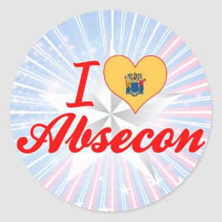 I Love Absecon, New Jersey Round Stickers