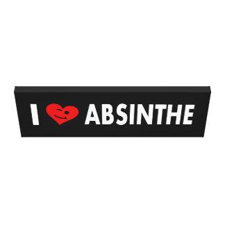 I Love Absinthe Canvas Print