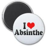 I Love Absinthe Fridge Magnet