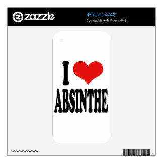 I Love Absinthe iPhone 4 Skin
