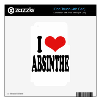 I Love Absinthe iPod Touch 4G Skin