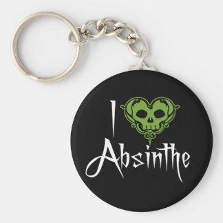 I Love Absinthe Keychain