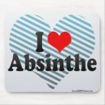 I Love Absinthe Mouse Pads