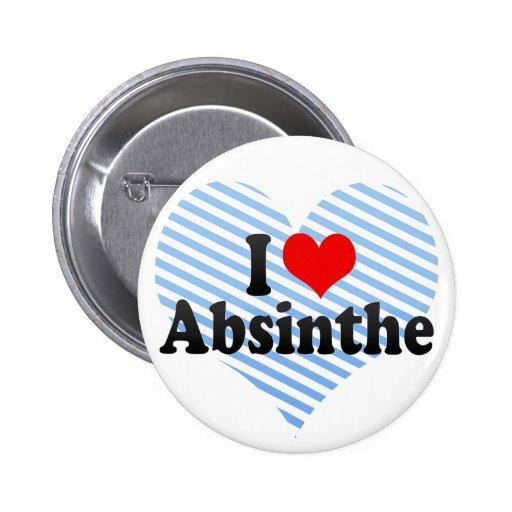 I Love Absinthe Pin