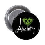 I Love Absinthe Pinback Buttons