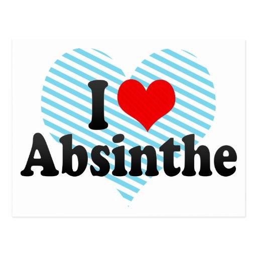 I Love Absinthe Postcard