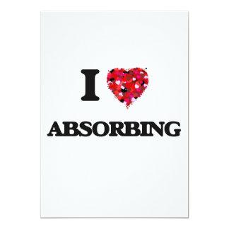 I Love Absorbing 5x7 Paper Invitation Card