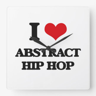 I Love ABSTRACT HIP HOP Clocks