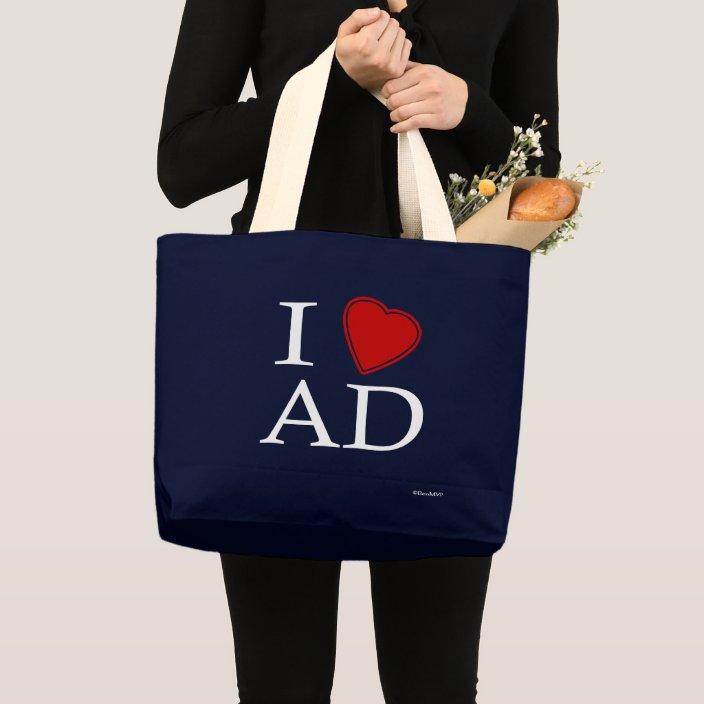 I Love Abu Dhabi Canvas Bag