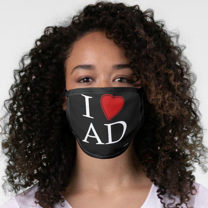I Love Abu Dhabi Cloth Face Mask
