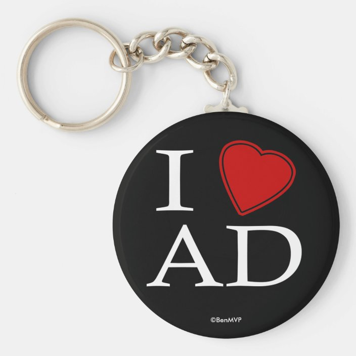 I Love Abu Dhabi Key Chain