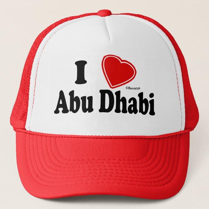I Love Abu Dhabi Mesh Hat