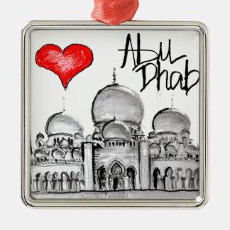 I love Abu Dhabi Metal Ornament