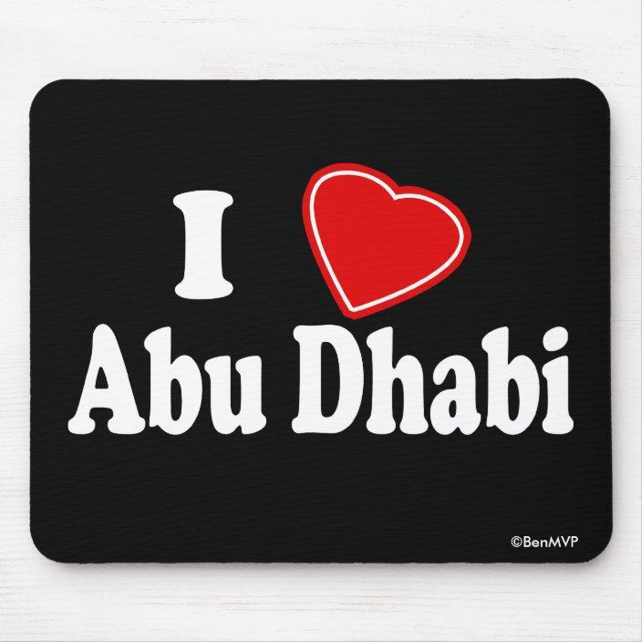 I Love Abu Dhabi Mouse Pad