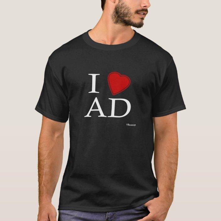 I Love Abu Dhabi Tee Shirt