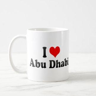 I Love Abu Dhabi, United Arab Emirates Coffee Mug