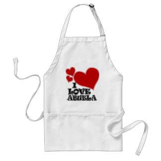 I LOVE ABUELA ADULT APRON