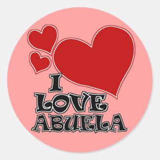 I LOVE ABUELA CLASSIC ROUND STICKER