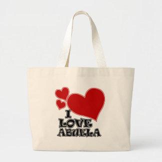 I LOVE ABUELA LARGE TOTE BAG