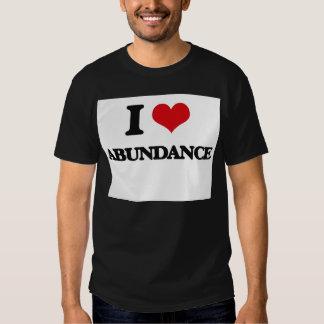 I Love Abundance Tee Shirts