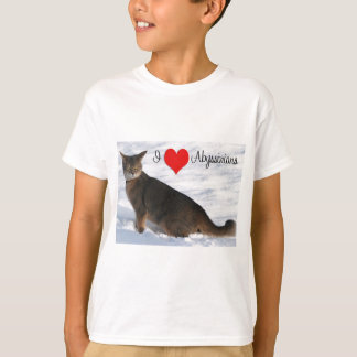 I Love Abyssinian Cats T-Shirt