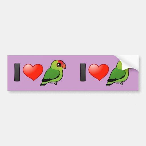 I Love Abyssinian Lovebirds Bumper Sticker