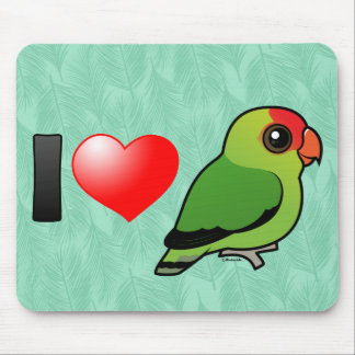 I Love Abyssinian Lovebirds Mouse Pad