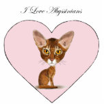 I Love Abyssinians Acrylic Cut Outs
