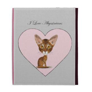 I Love Abyssinians iPad Folio Covers