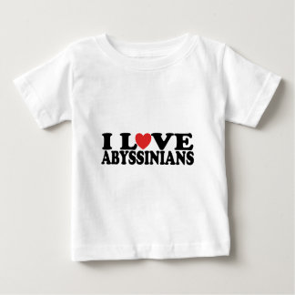 I Love Abyssinians Cat Baby T-Shirt